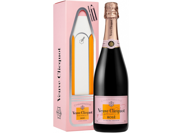 Шампанское Veuve Clicquot Ponsardin Brut Rose Magnet Message