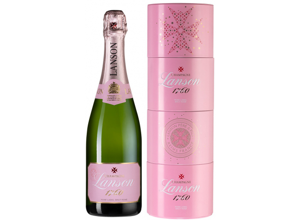 Шампанское Lanson Rose Label Brut Rose Twist Pack