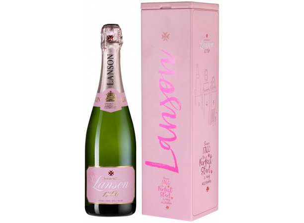 Шампанское Lanson Rose Label Brut Rose Music Box
